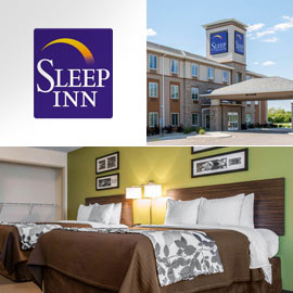 11. $114 – SLEEP INN & SUITES ONE NIGHT STANDARD ROOM, Marshall (Exp: 3/30/19) king or double queen bed