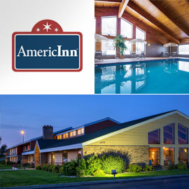 1. $128.99 – AMERICINN ONE NIGHT WHIRLPOOL SUITE, Sioux Falls (Exp: 6 Months After Issue) dbl occupancy, not valid holidays