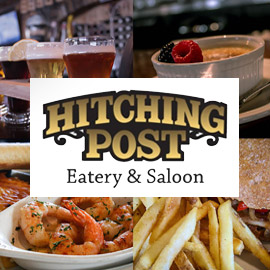 33. $10 – HITCHING POST CERTIFICATE, Marshall/limit 4, 1 per visit, not valid on takeout orders, no cash or credit given