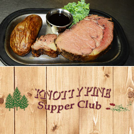 34. $25 – KNOTTY PINE SUPPER CLUB CERTIFICATE, Elkton/limit 2, 1 per visit