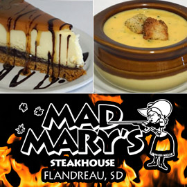 38. $10 – MAD MARY'S STEAKHOUSE CERTIFICATE, Flandreau/limit 2, valid Sunday-Thursday