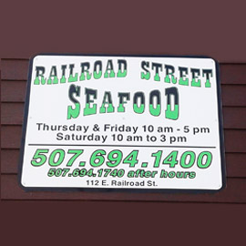 44. $10 – RAILROAD STREET SEAFOOD CERTIFICATE, Ivanhoe/Limit 3 per customer/limit 1 per visit/no cash or credit given