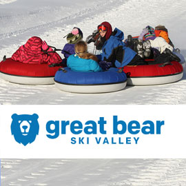 151. $20 – GREAT BEAR WEEKEND TUBING HILL TICKET ALL DAY PASS