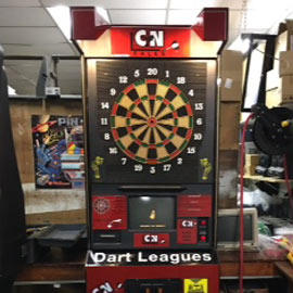 129. $800 – C & N GAME ROOM OUTLET ELECTRONIC DART BOARD ,Marshall, MN (reconditioned used)