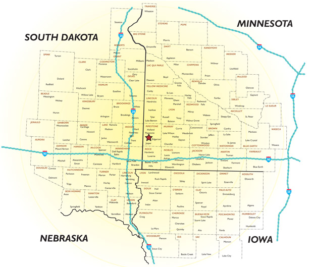 KISD 98.7 FM Coverage Map