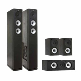 92. $999.99 – BOT APPLIANCE JAMO SOUND SYSTEM, Marshall/model S 626 HCS, includes two 3-way floor standing speakers, matching center channel speaker, and 2 powerful surround speakers, black ash finish, contemporary appearance