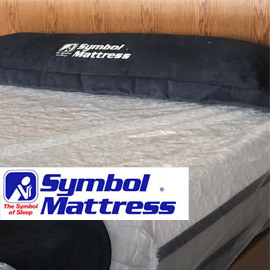 "121. $799 – WINDOM FLOOR & SLEEP QUEEN SIZE SYMBOL FREEDOM 11"" MEMORY FOAM MATTRESS SET , Windom, 10 year non-prorated warranty"