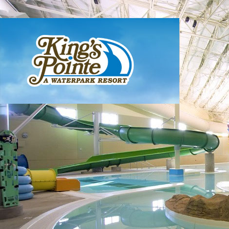 7. $169 – KINGS POINTE WATERPARK & RESORT DOUBLE QUEEN-CITY VIEW AND 4 WATERPARK PASSES, Storm Lake, IA/ based on availability, exclusions & blackouts apply/Expire: May 20, 2019